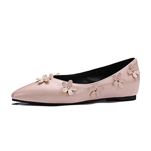 amp;S Pink Femmes Chaussures Bouche Chaussures MEI Plat Profonde Peu Casual LSM Talons à HEFHS