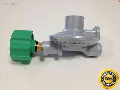 "COLIBROX--Propane Regulator Type 1 \ QCC LP Gas Low Pressure Grill BBQ Stove Parts 20psi Propane Regulator Coupler LP LPG QCC 1 Type Gas Connector 1/4"" Thread"