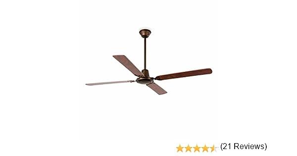 Faro Barcelona 33111 - MALVINAS Ventilador de techo sin luz, acero inyectado y palas de madera ply: Amazon.es: Iluminación