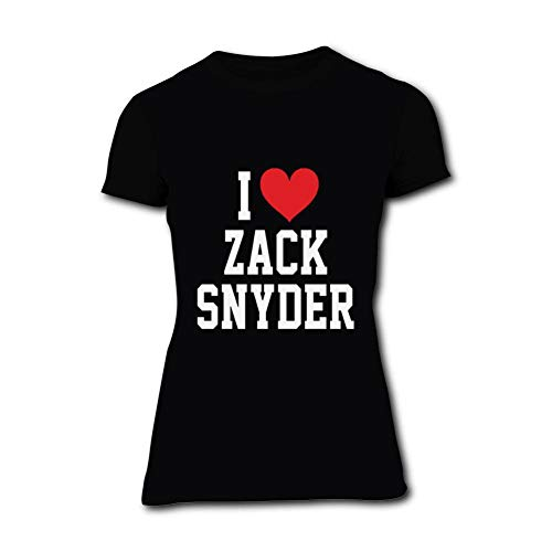 Womens T-Shirt I Love Zack Snyder 3D Print Short Sleeve Top Tees Black