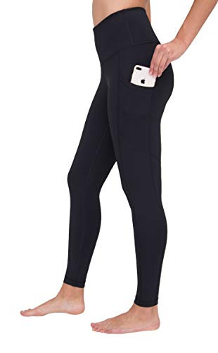 Black Street Pant - 90 Degree By Reflex High Waist Interlink Yoga Pants - Black 2019 - Medium