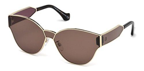 Balenciaga BA0096 Semi Shiny Pale Gold/Brown Fashion Sunglasses