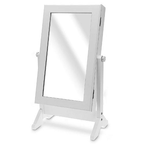 Armario Armario Joyero Armario con espejo Madera Color: Blanco