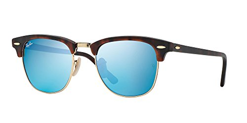 Ray-Ban RB3016 114517 Clubmaster Tortoise / Blue Mirrored Lens - Clubmaster Mirrored Ray Ban