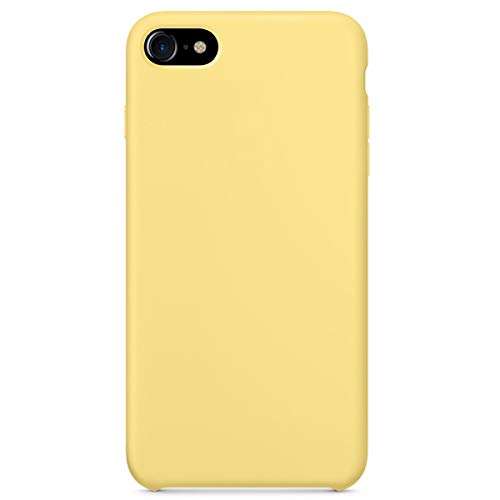 Optimal shield Soft Silicone Case Cover for Apple iPhone 7 (4.7inch) Boxed- Retail Packaging (Yellow)