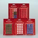 Petite Treasures Shiny Mini Glass Ball Ornaments .6'' (15mm) 3 Packs/ Assorted Colors