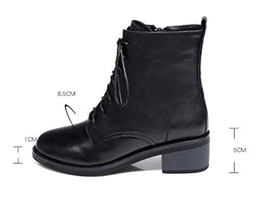 Invierno Otoño Mujer Zapatos Botas Cómodos De A E Tacón Martin Con gwRqZ7X