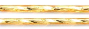 Preciosa Ornela Czech Twisted Bugle Glass Bead, 30mm, Silver Lined, Topaz, 80 gm/Pack