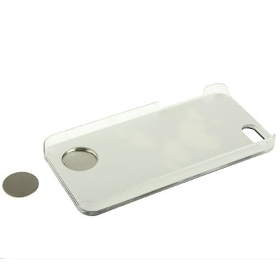 Protege tu iPhone, Patrón de corazón hueco LED cambio de sentido de luz de flash efecto de pegar la caja de plástico de metal para iPhone 5 y 5s y SE Para el teléfono celular de Iphone. ( Color : Cobr Púrpula