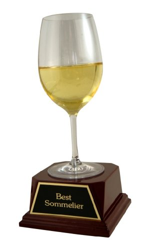 (Far Out Awards White Wine Trophy - Wine Lover Gift, Best Sommelier, Wine Tasting Trophy)