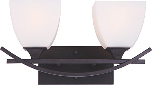 Transitional style Double 2-light Sconce with Oil Rubbed Bronze Finish (Double Transitional Wall Sconce)