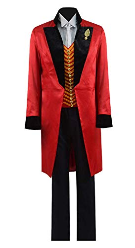 Qi Pao Kids Greatest Showman Barnum Performance Uniform Halloween Outfit Cosplay Costume (Little Boys 4, Red Black)]()