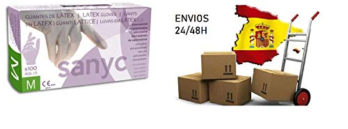 Guantes de l/átex talla M Color Blancos Caja de 100 piezas PRO ELITE
