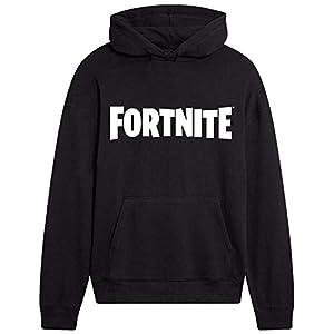 Fortnite Hoodie, Schwarz Hoodie Kinder, Jungen Pullover mit Kapuze, Bequem und Warm Hoodie Jungen für Videospieler…