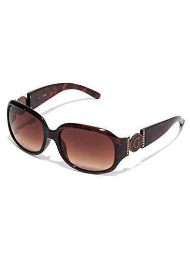 GuessFactory Cutout Logo Plastic Sunglasses