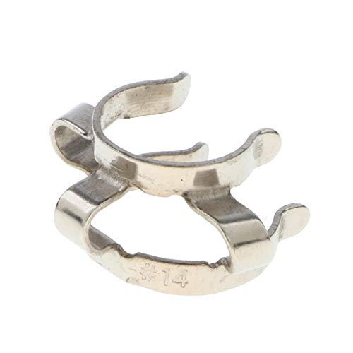 Homyl Stainless Steel Lab Clamp Clip Kecks for 14mm Glass Ground Joint Laboratory Tool (Keck Clip 14)