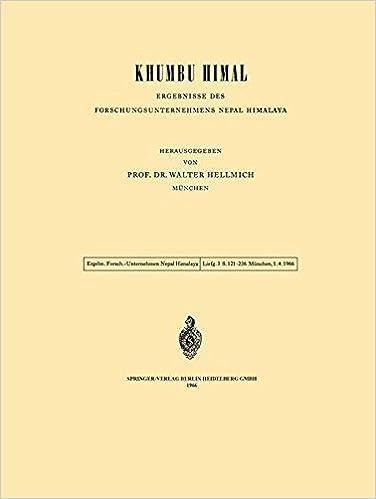 Khumbu Himal - Ergebnisse des Forschungsunternehmens Nepal Himalaya