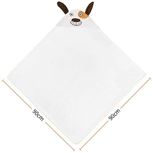 l'aise vie Bamboo Baby Hooded Towel - Ultra Soft Organic Baby Bath Towel - Ultra Absorbent Baby Towels for Babie, Newborns, Infants and Toddlers, Perfect for Baby Shower Boys and Girls (Brown)
