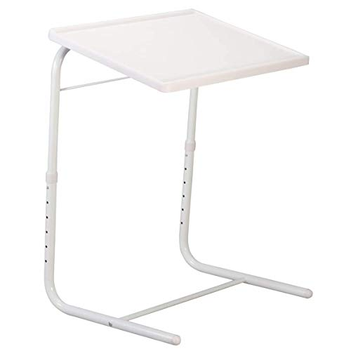 Adjustable 2 Leg Table - New 1 Pcs White Bed Sofa Table Smart Mate Foldable Folding Adjustable Tray