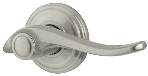 Kwikset Avalon Right-Handed Half-Dummy Lever in Satin Nickel (Dummy Push Bar)