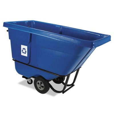 RCP130573BLU - Recyclable Rotomolded Tilt Truck, Rectangular, Plastic, 850 Lb. Cap., Blue