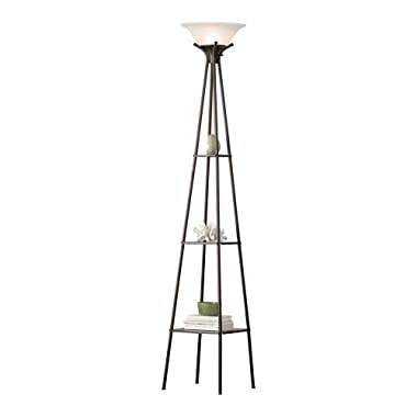Mainstays Etagere Floor Lamp Charcoal Finish, 69.5