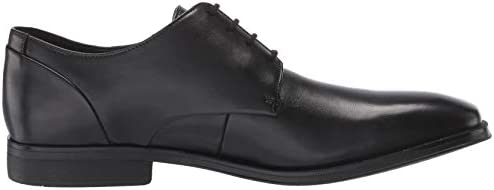 Clarks Men\'s Gilman Plain Oxford, Black Leather, 120 M US