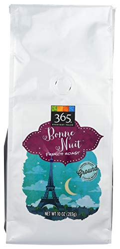 365 By Wfm, Coffee French Roast Bonne Nuit Ground, 10 Ounce