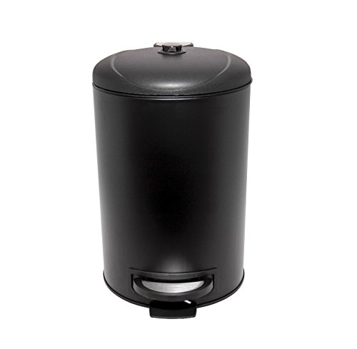 Premium Dog Waste Trash Can with Integrated Fly Trap for Small and Medium Sized Dogs (to 50 lbs.), Stainless Steel, Black, for Poop Bag, Pooper Scooper and Shovel Disposal by Garbage Can Fly Trap (Image #2)
