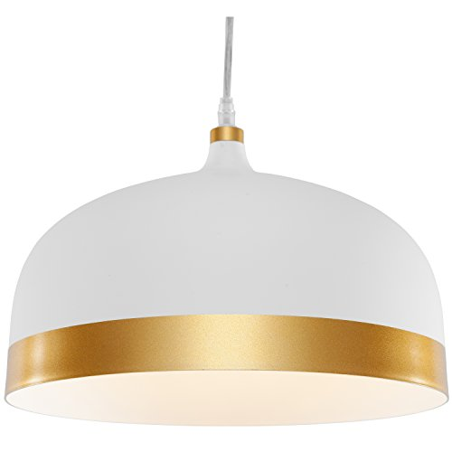 White And Copper Pendant Light