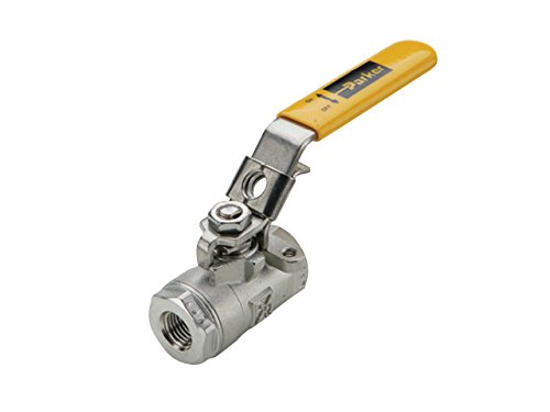 Parker VP502SS-32 Industrial Ball Valve, Female Pipe Ends, CF-8M Stainless Steel, Female Pipe Panel Mount, 2'' by Parker