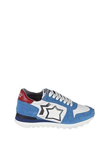 Atlantic Faux White Blue ARGOBANYLB Leather Sneakers Men's Stars Light rYqarg