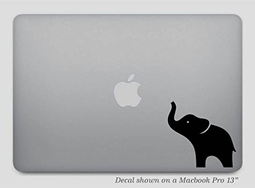 Black Elephant Macbook Decal Sticker product image