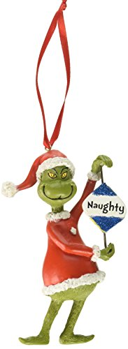 Department 56 Grinch Naughty or Nice Hanging Ornament ()