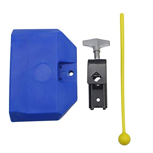 Gensence 1PC Blue Percussion Drum Bell Block Cowbell Cow Bell Mountable Mallet Musical Instrument Accessory Parts
