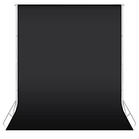 Neewer 5.25ft x 10ft/1.6x3M Non-Woven Fabric Backdrop Background Cloth for Photo Studio Portrait Photography Video Shooting(Black)