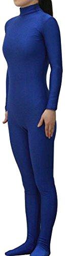 Seeksmile Unisex Lycra Spandex Zentai Dancewear Catsuit without Hood (Large, Dark Blue) (Costume Catsuit Zentai)