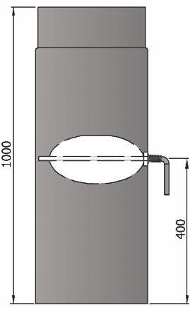 lanzzas humo Tubo estufa (Tubo garantía 1000 mm Con Válvula de estrangulación Ø 150 mm Negro: Amazon.es: Bricolaje y herramientas