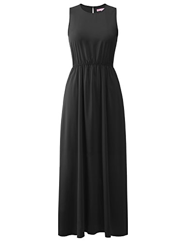 - Regna X wrap Beach Boho Summer Womens Easter Dress Spring Maxi Dress Black M