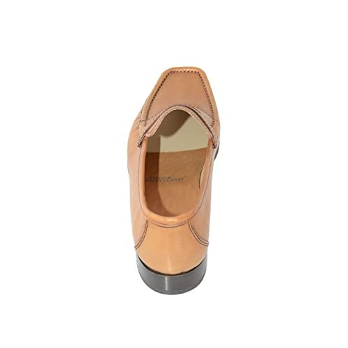 cbc300d4a4fa4 best Sutor Mantellassi 7 Light Brown Leather Penny Loafer Slip On ...