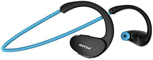 Mpow Cheetah Bluetooth Headphones, Sport Wireless Earbuds w Aptx Sound, IPX5 Waterproof 8 Hrs Playtime, V4.1 Wireless Sport Headphones, Behind-Ear Running Headset w CVC6.0 Noise Cancelling Mic,Blue
