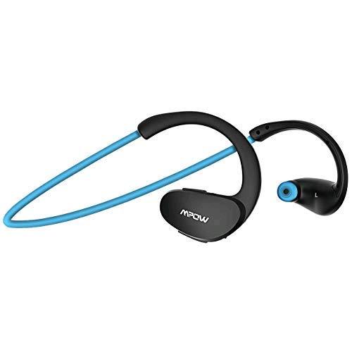 Mpow Upgraded Cheetah Bluetooth Headphones, V4.1 Wireless Sport Headphones, aptX Stereo & 8-Hour Playtime, Waterproof Behind-Ear Running Headset w/CVC6.0 Noise Cancelling Mic.