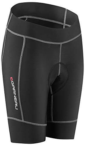 (Louis Garneau Girl's Request Promax Padded Bike Shorts, Black, Junior Large)