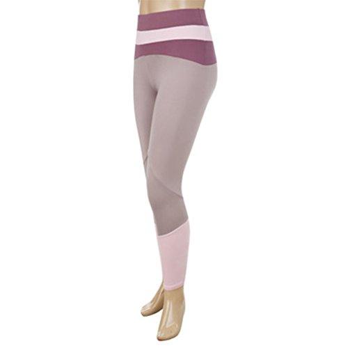 Pantaloni da yoga per donna Cinturini per ballare Legging Patchwork Bandage Slim Skinny Sport Running Pants Minzhi