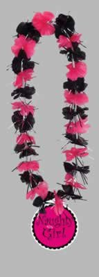 Party Lei w/Naughty Girl Medallion Party Accessory (1 count) (1/Pkg) -