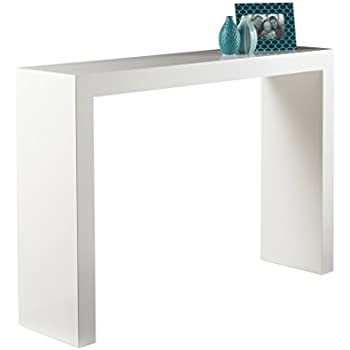 Bon Sunpan Modern Arch Console Table, White