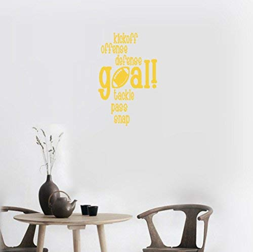 LilithCroft99 30x24 Kickoff Offense Defense Goal Tackle Pass Snap Football Season Boys Sports Game Day Inspirational Quotes Wall Decals for Kids Rooms Boys Girls for Living Room Nursery Wall Stickers ()