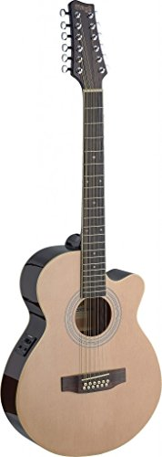 Mini Jumbo Cutaway Acoustic-Electric 12-String Guitar with FISHMAN Preamp Electronics - Natural ()