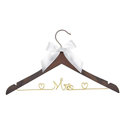 Wedding Dress Hanger, Mrs Hanger, Bride Hanger, Wire hanger, by Wedding Bee