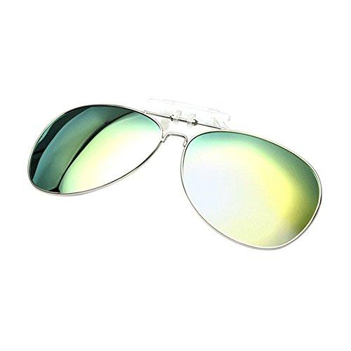 Portección Reflejante UV400 Mujer Hombre Eyewear Sol para Xinvision Verde Anti Metálico de Aviator Polarizadas Gafas Metal Sunglasses Vintage F6fwqf7nA